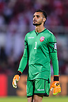 Goalkeeper Sayed Shubbar Alawi of Bahrain looks on during the AFC Asian Cup UAE 2019 Group A match between India (IND) and Bahrain (BHR) at Sharjah Stadium on 14 January 2019 in Sharjah, United Arab Emirates. Photo by Marcio Rodrigo Machado / Power Sport Images
