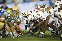 1 October 2006: The special teams, including Ekom Udofia (54) during Stanford's 31-0 loss to UCLA at the Rose Bowl in Pasadena, CA.