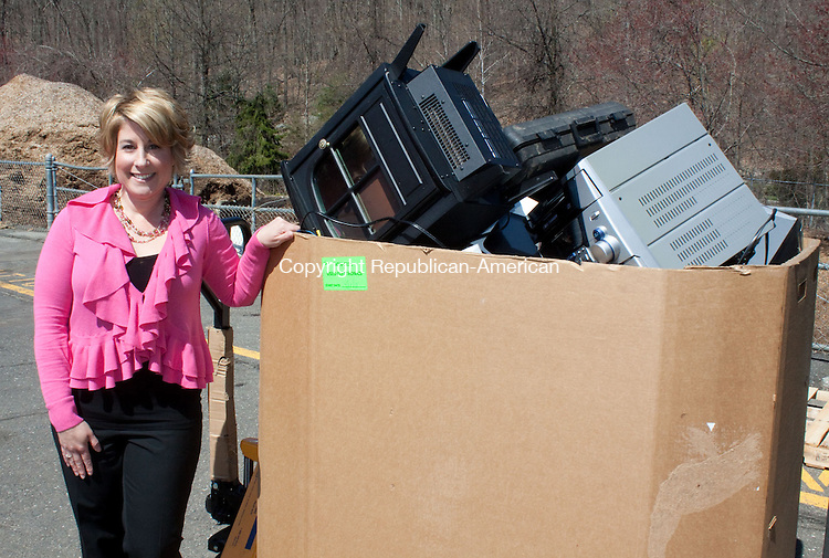 MIDDLEBURY CT-APRIL 24 2013- 042513DA03-Take 2 Inc., a new Waterbury-based electronics recycling company, is run by Gina Chiarella, a Wolcott resident who established and eventually sold We Recycle a few years ago..Darlene Douty Republican American