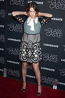 Brigette Lundy-Paine bei der Premiere des Kinofilms 'The Glass Castle / Schloss aus Glas' im SVA Theater. New York, 09.08.2017
