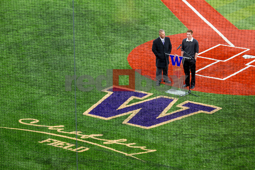 The opening of the new Husky Baseball Stadium March 20, 2014.(Photo by Scott Eklund/Red Box Pictures)