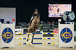 Nathalie Walker riding Rio de la Grandiere competes during the Hong Kong Jockey Club Junior Trophy, part of the Longines Masters of Hong Kong on 12 February 2017 at the Asia World Expo in Hong Kong, China. Photo by Marcio Rodrigo Machado / Power Sport Images