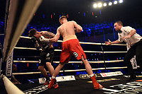 Sean Phillips (red shorts) defeats Josh Groombridge during Ultimate Boxxer III at Indigo at the O2 London on 10th May 2019
