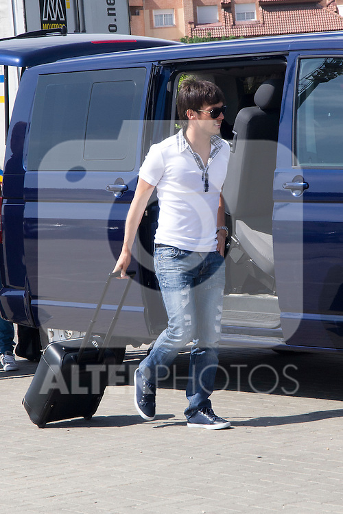 01.06.2012. Arrival of the players in the Spanish football team squad for the European Championship in Poland and Ukraine to the Ciudad del Futbol of Las Rozas, Madrid. In the image David Jimenez Silva.(Alterphotos/Marta Gonzalez)