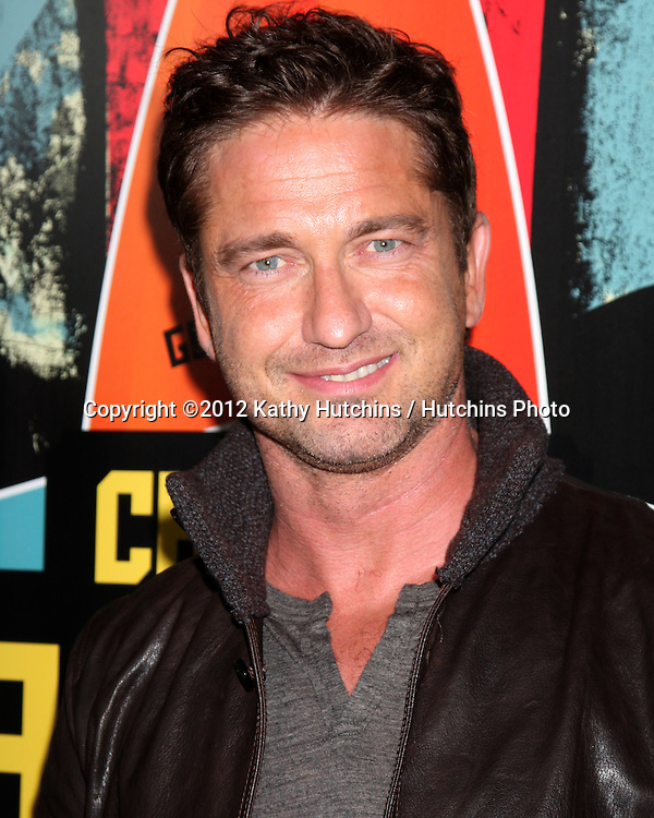 "LOS ANGELES - OCT 18:  Gerard Butler arrives at  the ""Chasing Mavericks"" Screening at Pacific's The Grove Stadium 14 Theaters on October 18, 2012 in Los Angeles, CA"