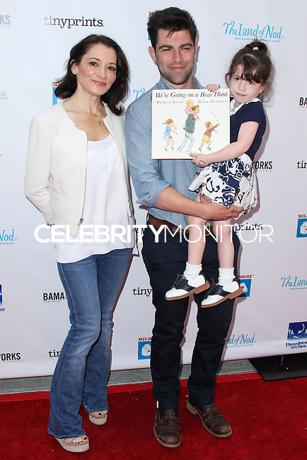 LOS ANGELES, CA, USA - APRIL 27: Tess Sanchez, Max Greenfield, Lilly Greenfield at the Milk + Bookies 5th Annual Story Time Celebration held at the Skirball Cultural Center on April 27, 2014 in Los Angeles, California, United States. (Photo by Xavier Collin/Celebrity Monitor)