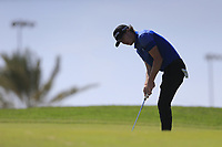 Sean Crocker (USA) on the 11th green on the 11th tee during the final round of  the Saudi International powered by Softbank Investment Advisers, Royal Greens G&CC, King Abdullah Economic City,  Saudi Arabia. 02/02/2020<br /> Picture: Golffile | Fran Caffrey<br /> <br /> <br /> All photo usage must carry mandatory copyright credit (© Golffile | Fran Caffrey)