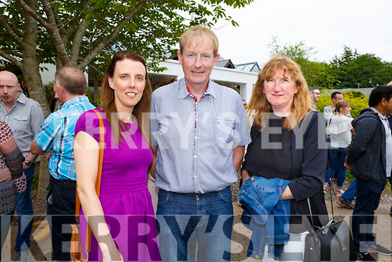 Mary Lehan, Liam Harty and Regina O'Connor. Enjoying the sun and fun at the Dairymaster 50th Anniversary BBQ in the Ballygarry Hotel on Sunday.