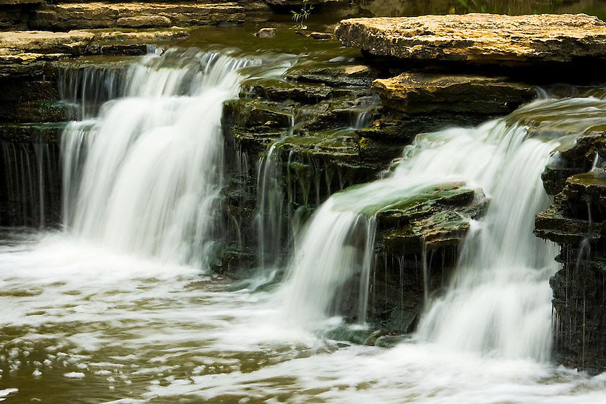 Small waterfalls and rapids in Illinois and Wisconsin