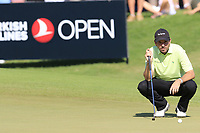 Thomas Aiken (RSA) on the 10th green during Sunday's Final Round of the 2018 Turkish Airlines Open hosted by Regnum Carya Golf &amp; Spa Resort, Antalya, Turkey. 4th November 2018.<br /> Picture: Eoin Clarke | Golffile<br /> <br /> <br /> All photos usage must carry mandatory copyright credit (&copy; Golffile | Eoin Clarke)