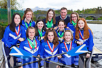 Killorglin rowers who were successful in the Skibereen Regatta over the weekend front row l-r: Airda Mateviciute, Amy Kelly, Laoise Murphy. Middle row: Ava O'Malley, Mara Tracey, Rhiannon O'Donoghue and Meabh Crowley. Back row: Katie Boyle, Zoe Hyde, Mike Fleming coach and Anna Tyther