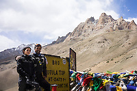 Suzanne Lee and Sanjit Das with their Sony ActionCam cameras while on a motorcycle ride Across the Indian Himalayas on Royal Enfield motorcycles.