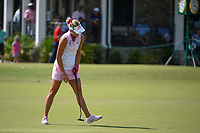 Lexi Thompson (USA) sinks her birdie putt on 9 during round 3 of the 2019 US Women's Open, Charleston Country Club, Charleston, South Carolina,  USA. 6/1/2019.<br /> Picture: Golffile | Ken Murray<br /> <br /> All photo usage must carry mandatory copyright credit (© Golffile | Ken Murray)