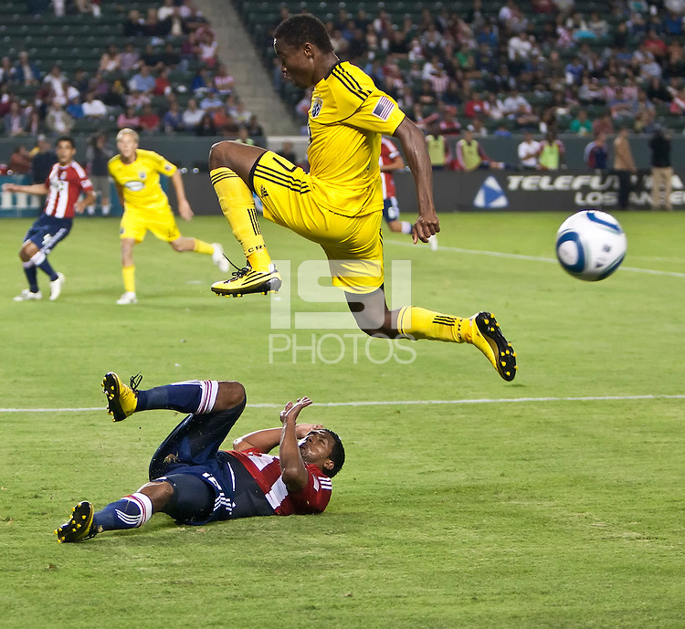 Chivas USA and the Columbus Crew at the Home Depot Center in Carson, CA, on July 31, 2010. Chivas USA 3, Columbus Crew 1.
