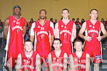 Tralee Tigers celebrate after defeating St Pauls in the Premier Mens Final at the St Marys Christmas Basketball Blitz which was held in the Castleisland Community Centre on Saturday Included are: Dave Fanning, Liam ODowd, Liam Culloty, Kevin ODonoghue,  Wilder Auguste, James Mooney, John Teahan,.
