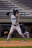 Lake County Captains designated hitter Mitch Reeves (23) during a Midwest League game against the Beloit Snappers at Pohlman Field on May 6, 2019 in Beloit, Wisconsin. Lake County defeated Beloit 9-1. (Zachary Lucy/Four Seam Images)