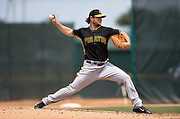 Pittsburgh Pirates pitcher Gerrit Cole (45) during a minor league spring training game against the Toronto Blue Jays on March 26, 2015 at Pirate City in Bradenton, Florida.  (Mike Janes/Four Seam Images)