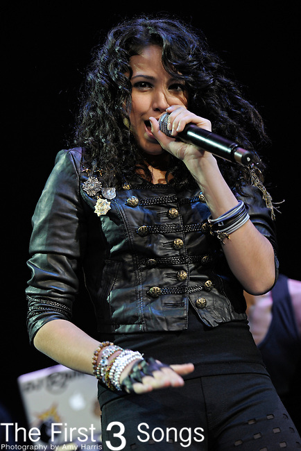 JASMINE VILLEGAS performs at the Cleveland State University Wolstein Center on November 11, 2010.