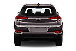 Straight rear view of a 2018 Hyundai Tucson Premium 5 Door SUV stock images