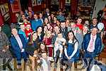 Tralee couple, Lana Raferty&Tim Moriarty Christened baby Tiernan at St Brendans church, Tralee last Saturday afternoon and celebrated with family and friends in O'Donnell's bar, Mounthawk, Tralee.