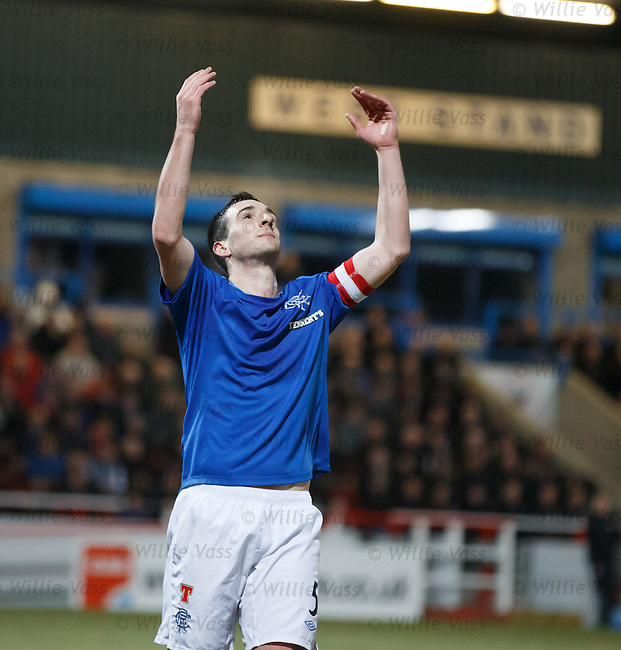 Lee Wallace looks to the heavens as he fails to find the back of the net