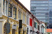 Colonial Era vs. Modern Era Architecture, Singapore.