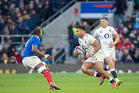 Twickenham, United Kingdom.   7th February, Manu TUILAGI, with the Ball, during the England vs France, 2019 Guinness Six Nations Rugby Match   played at  the  RFU Stadium, Twickenham, England, <br /> &copy; PeterSPURRIER: Intersport Images