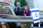 King Felipe VI of Spain (c) and Queen Letizia of Spain (c) receive Israeli President Reuven Rivlin (l) and wife Nechama Rivlin for an official lunch at the Zarzuela Palace. November 6,2017. (ALTERPHOTOS/Acero)