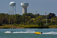 Dustin Terry (#03), Robert Rinker (#30) and the Springfield water tower.   (Formula 1/F1/Champ class)