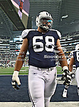 Dallas Cowboys offensive tackle Doug Free (68) in action during the Thanksgiving Day game between the Miami Dolphins and the Dallas Cowboys at the Cowboys Stadium in Arlington, Texas. Dallas defeats Miami 20 to 19...