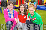 Local girls Meadhbh Flynn, Katie Madden and Tina Moloney enjoying the Abbeyfeale Parish Fete held for World Youth Day and St Mary's Boys NS held last Sunday afternoon in Fr Casey's GAA.