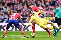 ATLETICO DE MADRID v GIRONA FC.LA LIGA 2017/2018. ROUND 20.
