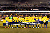 Brazil starting eleven  prior to playing the Colombia during an international friendly between Colombia (COL) and Brazil (BRA) at MetLife Stadium in East Rutherford, NJ, on November 14, 2012.