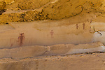 The Ascending Sheep pictograph panel, on the Molen Reef on the western edge of the San Rafael Swell in Utah, is an example of Barrier Canyon-style rock art and was painted between 1,500 and 4,000 years ago.   A few feet to the left are some Fremont Culture pictographs, painted between 1,500 and 800 years ago..