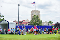 Suzann Pettersen (NOR) watches her tee shot on 10 during Thursday's round 1 of the 2017 KPMG Women's PGA Championship, at Olympia Fields Country Club, Olympia Fields, Illinois. 6/29/2017.<br /> Picture: Golffile | Ken Murray<br /> <br /> <br /> All photo usage must carry mandatory copyright credit (&copy; Golffile | Ken Murray)