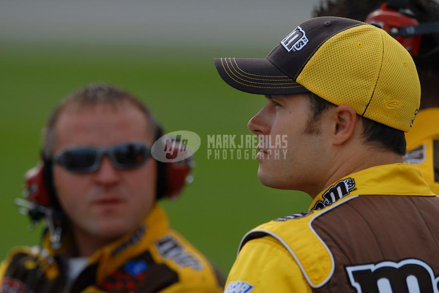 Oct 1, 2006; Kansas City, KS, USA; Nascar Nextel Cup driver David Gilliland (38) during the Banquet 400 at Kansas Speedway. Mandatory Credit: Mark J. Rebilas..