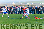 St Mary's Daniel Daly wins possession, turns and breaks free from Valentia's Brendan O'Sullivan.