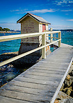 Wharf and hut at Camp Cove, Watsons Bay, South Head. Sydney, NSW, Australia