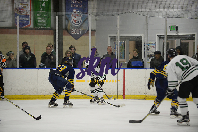 Stevenson men's ice hockey drops second straight home game with 2-1 loss to Neumann on Friday night at Reisterstown Sportsplex.