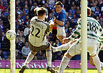 24TH APRIL 2005, RANGERS V  CELTIC AT IBROX STADIUM, GLASGOW, STEVEN THOMPSON SCORES FOR RANGERS, ROB CASEY PHOTOGRAPHY.