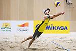 05.01.2019, Den Haag, Sportcampus Zuiderpark<br />Beachvolleyball, FIVB World Tour, 2019 DELA Beach Open<br /><br />Abwehr Clemens Wickler (#2)<br /><br />  Foto © nordphoto / Kurth