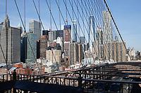 NOVA YORK, EUA, 14.03.2019 - NEW YORK-EUA - Vista do One World a partir da Ponte do Brooklyn em Nova York nos Estados Unidos. (Foto: Vanessa Carvalho/ Brazil Photo Press)