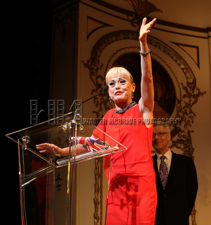 Tracie Bennett & Tony Sheldon.during the 68th Annual Theatre World Awards at the Belasco Theatre  in New York City on June 5, 2012.