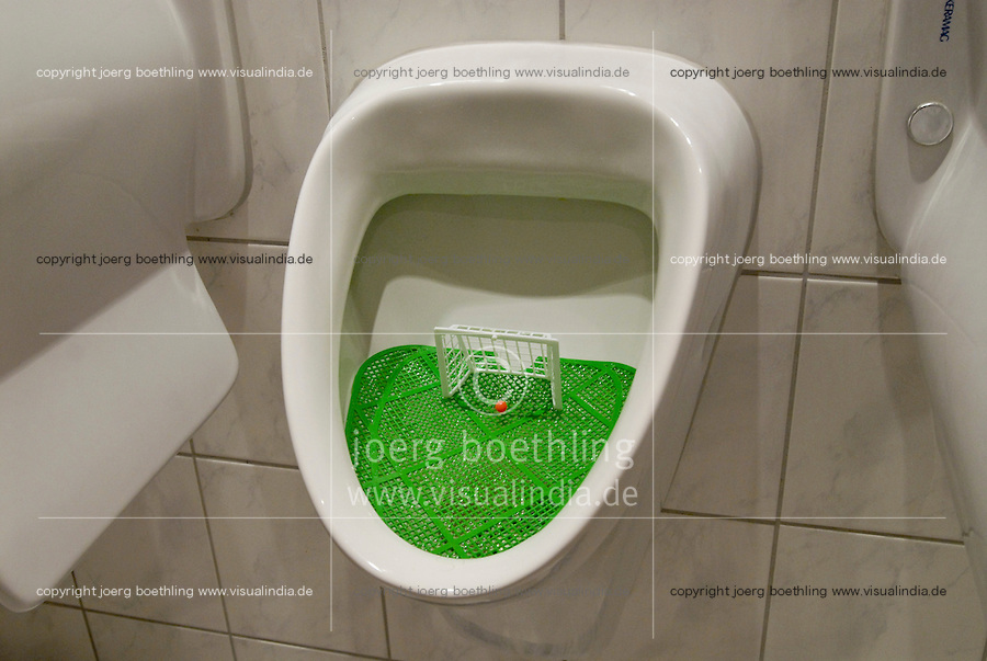GERMANY, toilet, pissoir with soccer goal