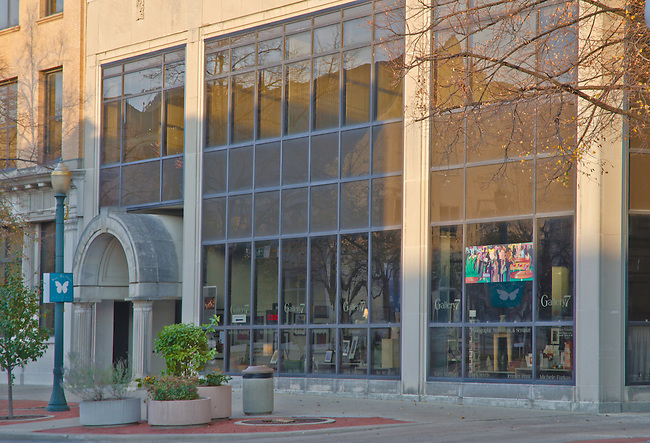 Gallery 7 is just one door north of the famed Rialto Theater in downtown Joliet, Illinois