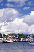 Nova Scotia, NS, Canada, Scenic village of Lunenburg, UNESCO World Heritage Site, on the Atlantic Ocean.