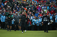 Thumbs up; Shane Lowry (IRL) on his way to win the Final Round of the 148th Open Championship, Royal Portrush Golf Club, Portrush, Antrim, Northern Ireland. 21/07/2019. Picture David Lloyd / Golffile.ie<br /> <br /> All photo usage must carry mandatory copyright credit (© Golffile | David Lloyd)