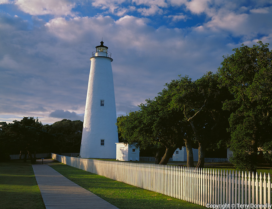 Cape Hatteras National Seashore, NC:  <br /> Ocracoke Island Lighthouse (1823) located on Ocracke Island