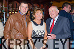 Mark Burke, Jactina Burke and Pat O'Connor, pictured at Na Gaeil Social held in Meadowlands Hotel, Tralee on Saturday night last.