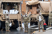 Army National Guard Food Distribution - COVID-19 Coronavirus - Chelsea MA - 27 Apr 2020